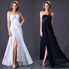 US SALE~2014 Sexy Long Dress Evening Bridesmaid Prom Chiffon Dance Party Dresses