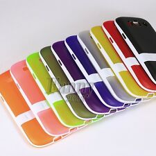 Gel Rubber Stand Silicone TPU Cover Case Skin for Samsung Galaxy S3 ,SGH-i747