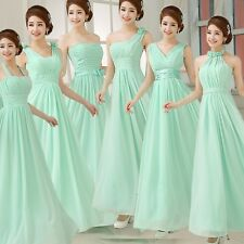 Mint Green Evening Formal Wedding Party Ball Gown Prom Bridesmaids Long Dress