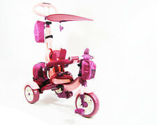 4in1 Pinokyo PINK™ Girl Trike Smart Kid Tricycle 3 Wheel Bike Ride On Toy UK New