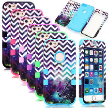 Sky Chevron Anchor Matte High Impact Rugged Combo Cases Cover For iPhone 6 6S