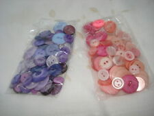 Buttons, 50 grams, assorted sets, pinks/purples