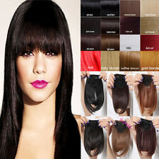 USA clip in on bangs fringes Hair Extensions Real Synthetic Black Brown New lts
