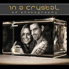 PERSONALISED 3D LASER ENGRAVED CRYSTAL // YOUR PHOTO IMAGE CHOICE IN CRYSTAL !!