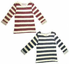 Ladies ex-chain store jumpers available in Navy and Burgundy striped