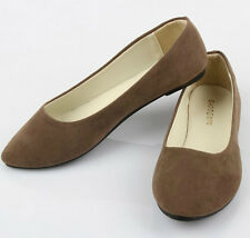 Womens Ballet Flats Ballerina Slippers Casual Slip On Shoes Ladies Microsuede