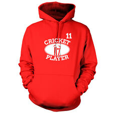 Cricket Player 11 - Unisex Hoodie / Hooded Top - Cricketer - Gift - 9 Colours