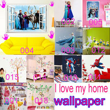 Frozen&spider-man&Minions Removable Kids' Bedroom Wall Stickers Wallpaper Decor