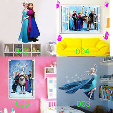 Frozen Elsa Anna Removable Kids' Bedroom Wall Stickers Wallpaper Wall Coverings