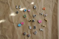 Dog & Cat Theme Alloy Floating Charm for floating memory glass lockets 1pc