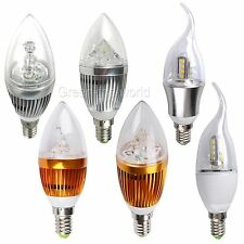 E14 9W 12W LED Candle Chandelier Light Bulb Lamp Warm Cool White Energy Saving