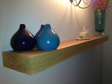 SOLID OAK FLOATING SHELF- 32MM- THICK MANTLE BEAM L@@K FREE CARRIAGE AND FIXINGS