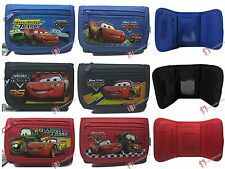 Disney Cars Black / Blue / Red Trifold Wallet New Licensed McQueen Mater Boys