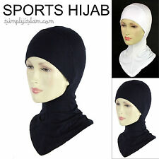 Women's Sports Hijab Scarf Bone - Navy, Black and White