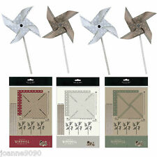 EAST OF INDIA PAPER WINDMILL CRAFT SET KIT PARTY WEDDING CHRISTMAS DECORATION
