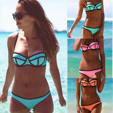 2014 Women's Bandage Bikini Set Push-up Padded Bra Halter Swimwear Bathing Suit