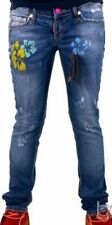Dsquared2 Denim Women`s Jeans with Flowers. Size: 38, 42, 44