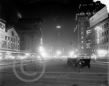 1911 Times Square New York City at Night Vintage Photo Historical