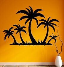 Wall Stickers Vinyl Decal Tropical Palm Tree Beach Relax Decor (ig1769)