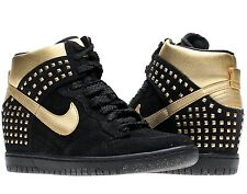 NIKE WOMEN DUNK SKY HI STUDS QS WEDGE BLACK-GOLD [615873-001] ** HOT **  $200