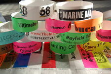300 Paper Tyvek Wristbands for Nightclubs, Parties, Festivals- Plain & Printed