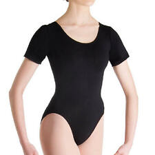 Bloch Womens Dancewear Short Sleeves Dance Leotards Scoop back Petite NEW