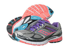 Saucony Womens S10227-1 Guide 7 Running Cross Training Shoes [ Silver / Purple ]