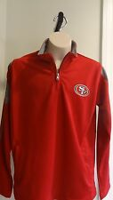 NWT San Francisco 49ers 1/4 Zip Lightweight Red Youth Pullover Jacket - M - XL