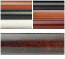 """New Select 1 3/8"""" Diameter Smooth Wood Drapery Pole Curtain Rod 4' Long 7 Colors"""