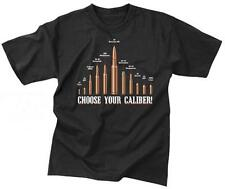 Choose Your Caliber T-shirt Army Marine Corps Navy USAF USMC Bullets Police SWAT