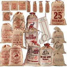 Hessian Sack Merry Christmas Rustic Vintage Christmas Decoration Large Stocking