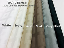 Damask 600 TC Combed Egyptian Cotton Sheet set or Duvet cover Set