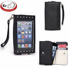 Kroo Clutch Purse with See Thru Screen for Apple I Phone 5 five S 5 C