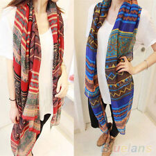 Trendy Bohemian Womens Voile Soft Silk Scarf Large Shawl Scarves Pashmina Cape