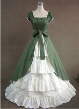 Green Vintage Lolita dress/victorian party cosplay costumes/Civil War Gown Ball