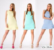 Elegant Dress Sexy With Ruffle In 7 Colours Mini Dress Size S M, M93