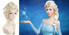 Princess Girl Wig Anime Film Queen Elsa/Anna Child Weaving Braid Cosplay Costume