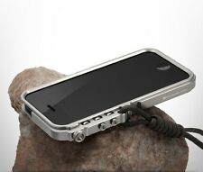 "Aluminum Bumper Cases Tactical Edition for iPhone 4 4S 5 5S 6 4.7"" with Lanyard"