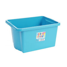 Stack&Store Stackable Strong Plastic Storage Boxes 30L Blueberry Toys Craft Tool