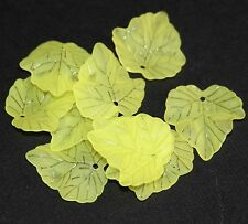40 pcs of Frosted Acrylic leaf drops, lucite leaf drops 24x22mm