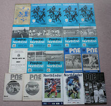 Preston home programmes 1969/70 to 2006/07