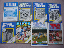 Wigan home programmes 1978/79 to 1991/92