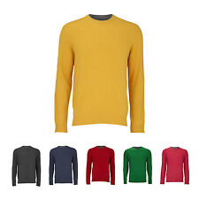 PIERRE CARDIN Pullover in Double-Layer-Optik aus Schurwoll-Mix Herren