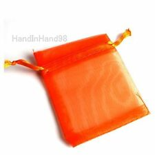 50x 7x9cm Organza Jewelry Pouch Wedding Favors Drawstring Gift Bag Pick Colors