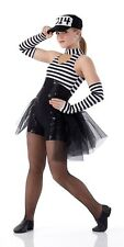 JAILHOUSE ROCK Unitard & Back Ruffle Dancewear Dance Costume Child & Adult Sizes