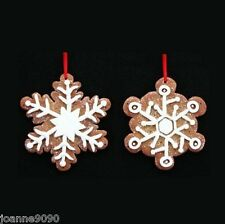 GISELA GRAHAM GINGERBREAD BISCUIT SNOWFLAKE CHRISTMAS TREE DECORATION ORNAMENT