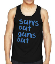 22 JUMP STREET SUNS OUT GUNS OUT FUNNY VEST TANK TOP SUMMER SYLE CHANNING  NEW