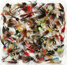 Assortment Trout Fly Fishing Flies Wet Dry Nymph Buzzers 10 25 50 100 Size 12