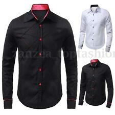 2015 Business Mens Stylish Slim Fit Formal Casual Dress Shirt Long Sleeve Tops