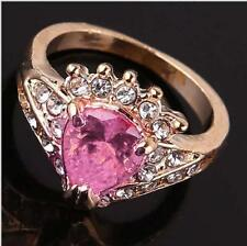 lovely luste 18K gold filled pear pink sapphire lady transcendent ring JZ0081